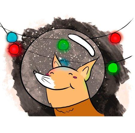 Ilustración de P navideña creada por la estupenda Gemma Martínez