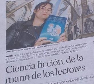 Proyecto Data P en períodico La opinión de Málaga