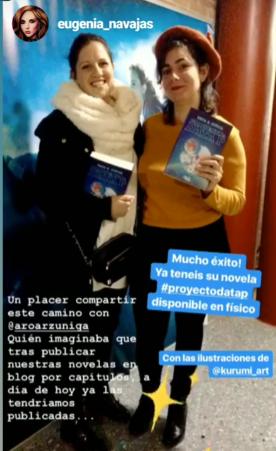Con mi paisana, la escritora Eugenia Navajas